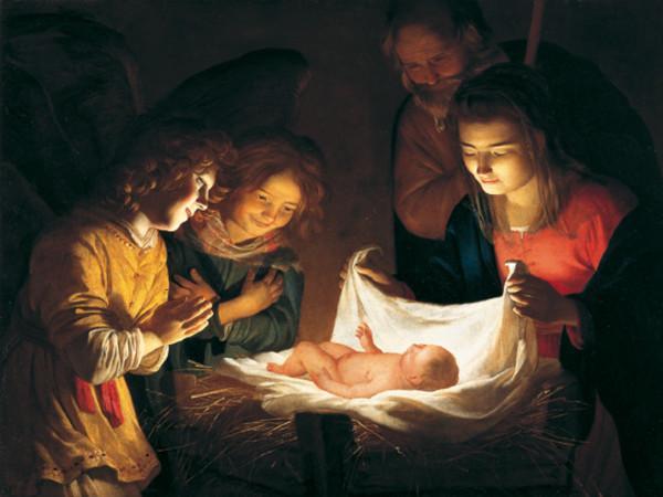 Natale 2016 Gerry van Honthorst Adorazione del Bambino
